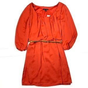 2/$14 City Triangle Belted 3/4 Sleeve Dress Jrs M